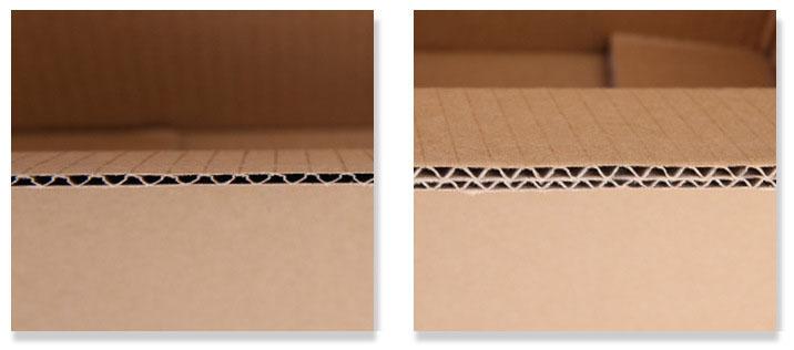 瓦楞纸板按楞型分类